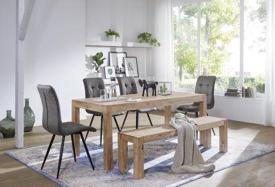 Esstisch Massivholz MUMBAI Akazie 120 Cm Esszimmer Tisch Holztisch Design  Küchentisch Landhaus Stil Dunkel