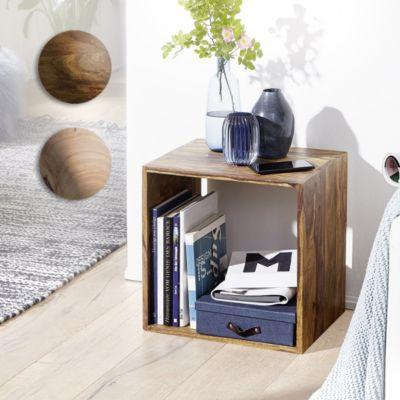 wohnling-wohnling-standregal-massivholz-sheesham-43-5-cm-cube-regal-design-holzregal-naturprodukt-beistelltisch-landhaus-stil