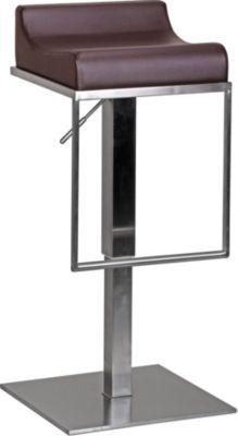 Barhocker Durable M5 Edelstahl gebürstet Braun