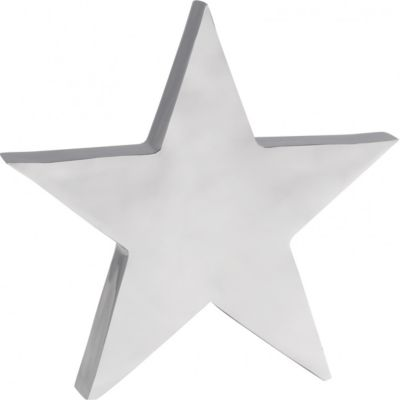 Wohnling Deko Stern Tischdekoration Stars aus Aluminium Farbe Silber