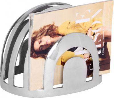 Wohnling Design Deko Zeitungsständer Farbe Silber Zeitungshalter aus Aluminium