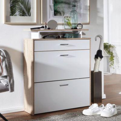 wohnling-wohnling-schuhschrank-samo-mdf-sonoma-eiche-80-cm-schuhregal-schuhkipper-design-schuh-kommode-modern-sideboard-schuhablage