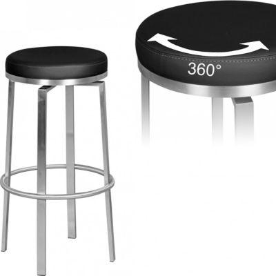 barhocker edelstahl schwarz preisvergleich die besten angebote online kaufen. Black Bedroom Furniture Sets. Home Design Ideas