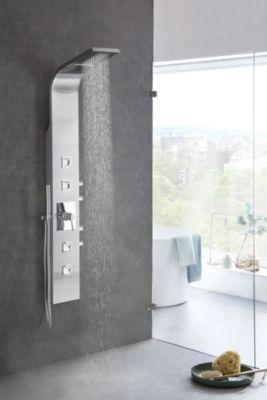 Wohnling Wohnling Design Edelstahl Duschpaneel Wasserfall Regendusche 114 Massage Dusen Hochwert