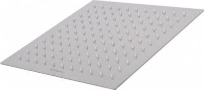 Wohnling Luxus Edelstahl Einbau Regendusche - Regenbrause 25 x 25 cm - Duschkopf quadratisch mit 121 Anti-Kalk Düsen | Bad > Duschen > Duschköpfe | Wohnling