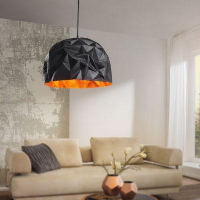 wohnling-design-pendelleuchte-glory-schwarz-gold-40-cm-deckenlampe-mit-metall-schirm-moderne-hangelampe-loft-pendellampe-industrie-deckenleu