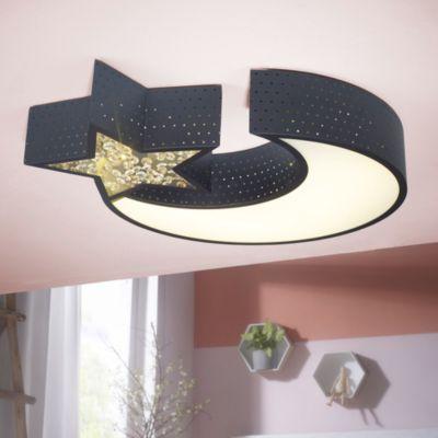 wohnling-led-deckenleuchte-nightsky-metall-eek-a-deckenlampe-mond-stern-schwarz-design-kinderzimmer-lampe-30-watt-2550-lumen-warmwei-schlafzimme