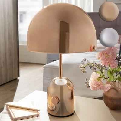 wohnling-design-tischleuchte-ohri-metallschirm-lampe-dimmbar-nachttischlampe-silber-metalllampe-e27-bis-60w-leselampe-1-flammig-28-cm-tischlam