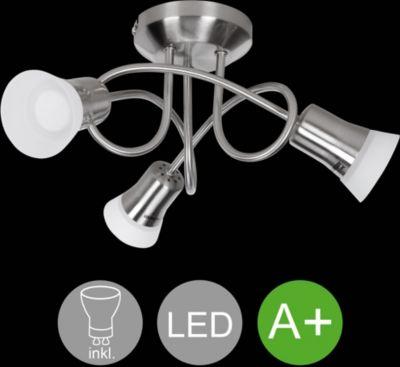 LED Spot 3 Flammig CLARA Deckenstrahler Lampe Dimmbar A+ Warmweiß 12 Watt  Wohnzimmerlampe Strahler