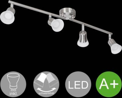 LED Spot 4 Flammig CLARA Deckenstrahler Lampe Dimmbar A+ Warmweiß 16 Watt  Wohnzimmerlampe Strahler