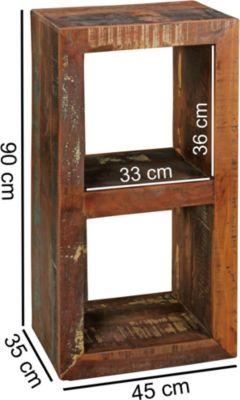 wohnling-standregal-delhi-45-x-35-x-90-cm-bucherregal-mango-massiv-holz-design-regal-2-boden-shabby-recycling-bootsholz