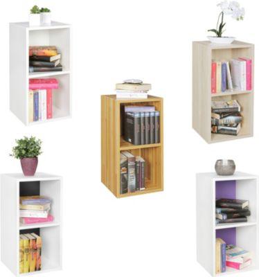 wohnling standregal klara buche f r b cher 2 f cher mdf. Black Bedroom Furniture Sets. Home Design Ideas