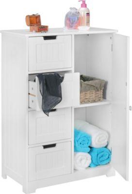 wohnling-design-badschrank-luis-landhaus-stil-mdf-holz-56-x-83-x-30-cm-wei-badezimmerschrank-klein-4-schubladen-1-tur-beistellschrank-mehrzwecksc