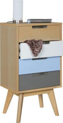 wohnling-wohnling-retro-nachtkonsole-skandi-holz-nachttisch-4-schubladen-44-x-83-x-33-cm-mehrfarbig-design-nachtkastchen-skandinavisch-fur-boxspring