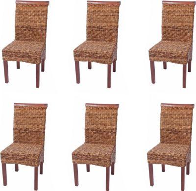 6x Esszimmerstuhl Korbstuhl M45 Stuhl Bananengeflecht