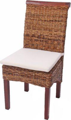 2x Esszimmerstuhl Korbstuhl M45 Stuhl Bananengeflecht