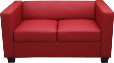 2er Sofa Couch Loungesofa Lille,Leder