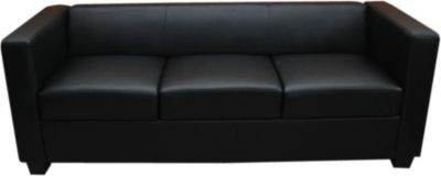 3er Sofa Couch Loungesofa Lille, Leder
