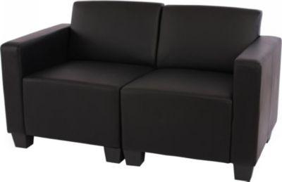 Modular Zweisitzer Sofa Couch Lyon, Kunstleder