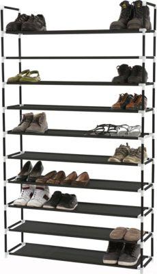 Heute Wohnen Schuhregal Schuhablage Schuhständer 10 Ebenen Für 50 Paar  Schuhe