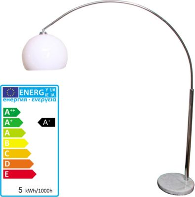 LED Bogenlampe LOUNGE DEAL II Stehleuchte, chrom, 5W-LED, EEK A+
