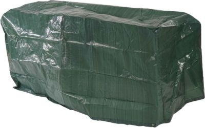 heute wohnen heute-wohnen Abdeckhaube Schutzplane Hülle Regenschutz für Gartenbänke, 140x70x89cm
