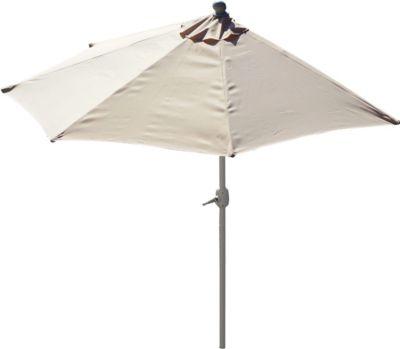 Alu-Sonnenschirm halbrund Parla, Halbschirm Balkonschirm, UV 50+