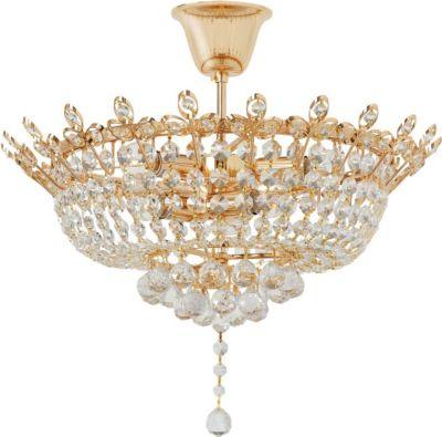 Kronleuchter MW072, Deckenleuchte Deckenlampe, goldfarben, Ø=50cm