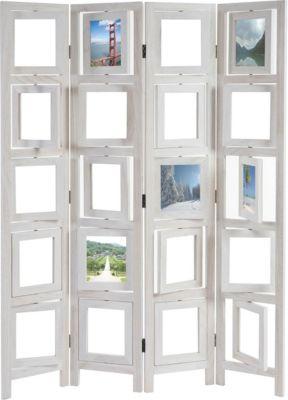 heute-wohnen Paravent Fotogalerie II, Raumteiler Trennwand Sichtschutz Foto-Paravent, 161x125x2cm | Garten > Zäune und Sichtschutz | heute-wohnen