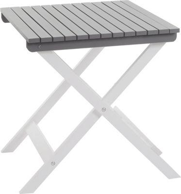 Holztisch Salzburg, Gartentisch Klapptisch, weiß grau lackiert