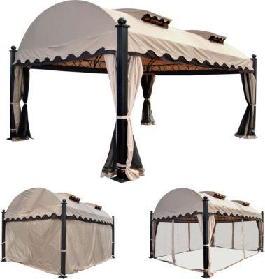 heute wohnen pergola daroca garten pavillon 10cm luxus alu gestell mit seitenwand. Black Bedroom Furniture Sets. Home Design Ideas