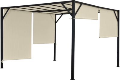 heute wohnen pergola baia garten pavillon terrassen berdachung stabiles 6cm stahl gestell. Black Bedroom Furniture Sets. Home Design Ideas