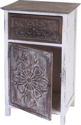 Kommode Galway, Schubladenkommode Schrank, Shabby-Look Vintage 75x45x34cm