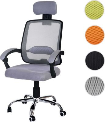 Bürostuhl Arendal, Schreibtischstuhl Drehstuhl, Kopfstütze Armlehnen Textil