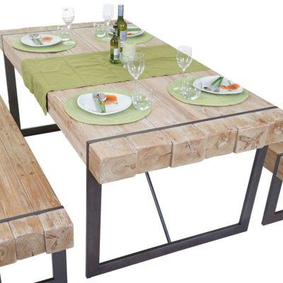 Holz tisch massiv preisvergleich die besten angebote online kaufen - Wohnzimmertisch anthrazit ...