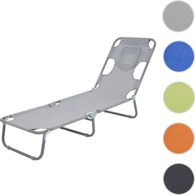 Heute Wohnen Sonnenliege HWC B11, Relaxliege Gartenliege,  Bauchliegefunktion Textil Klappbar