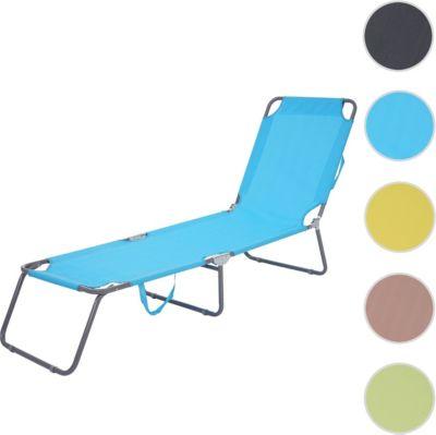Heute Wohnen Sonnenliege HWC B11, Relaxliege Gartenliege, Textil Klappbar