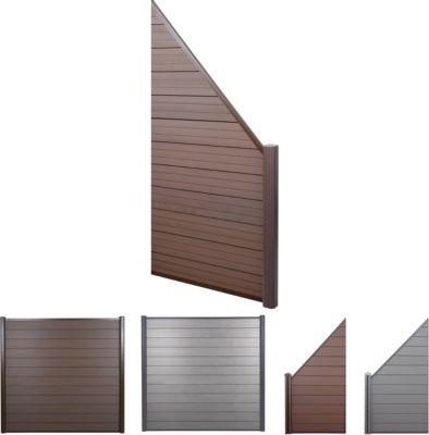 WPC-Sichtschutz Sarthe, Windschutz Zaun, Alu Premium