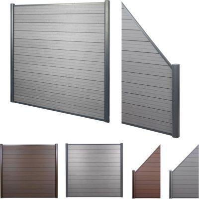 heute-wohnen WPC-Sichtschutz Sarthe, Windschutz Zaun, Alu Premium | Garten > Zäune und Sichtschutz | Stahl | heute-wohnen