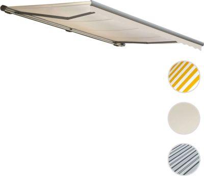 heute-wohnen Elektrische Kassetten-Markise T124, Vollkassette Volant 5x3m | Garten > Sonnenschirme und Markisen > Markisen | heute-wohnen