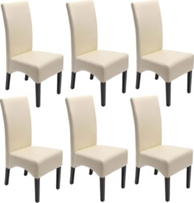 6x Esszimmerstuhl Lehnstuhl Stuhl Latina, LEDER