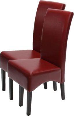 2x Esszimmerstuhl Lehnstuhl Stuhl Latina, LEDER