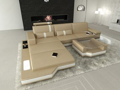 Sofa Dreams Ledersofa Messana L Form bei Plus Online Shop