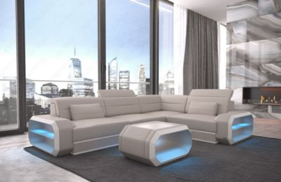 Sofa Dreams Ledercouch Verona mit LED   Wohnzimmer   Sofa Dreams