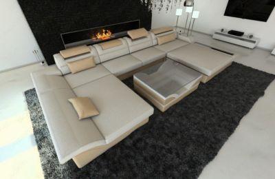 Sofa Dreams Berlin New Look Stoff Wohnlandschaft Monza Led U Form