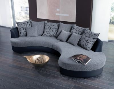 brandolf rundsofa beige braun deburg plus de. Black Bedroom Furniture Sets. Home Design Ideas
