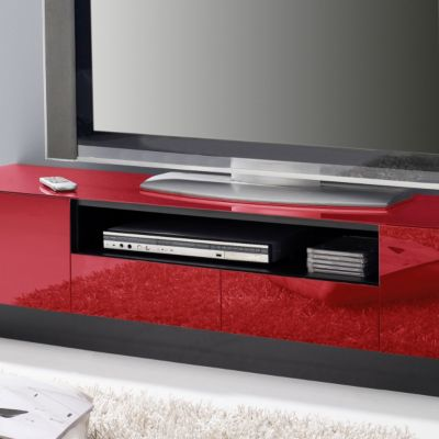 wim lowboard fevik in schwarz rot plus de. Black Bedroom Furniture Sets. Home Design Ideas