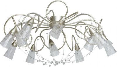 Deckenleuchte in Silber mit Kristallen
