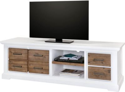 TV Lowboard Lale in Weiß Braun 180cm Breit