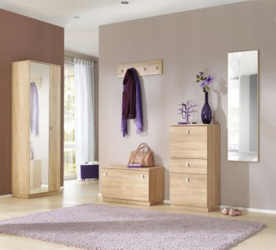 garderobe gornluend 5 teilig in eiche saegerau. Black Bedroom Furniture Sets. Home Design Ideas